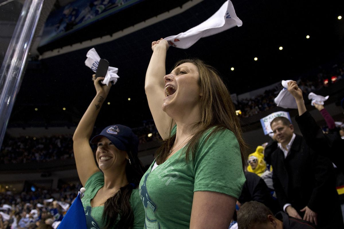 Will these ladies carry on the fine Vancouver tradition? (Photo by Rich Lam/Getty Images)
