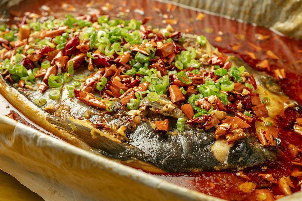 Pan-roasted fish from Miao Miao Xian