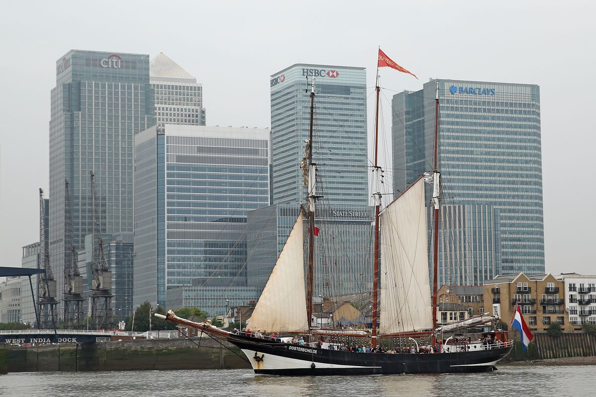 Tall Ships Arrive Into London