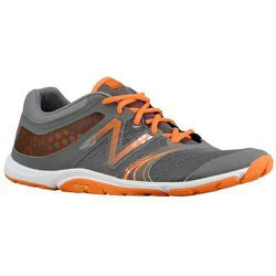 """Sport: Cross Training. <strong>New Balance</strong> Minimus 20V3 in Grey/Orange/White,  <a href=""""http://www.newbalance.com/Minimus-20v3-Cross-Training/MX20-V3,default,pd.html?dwvar_MX20-V3_color=Black_with_Silver&start=6&cgid=103000&srule=By%20Customer%20"""