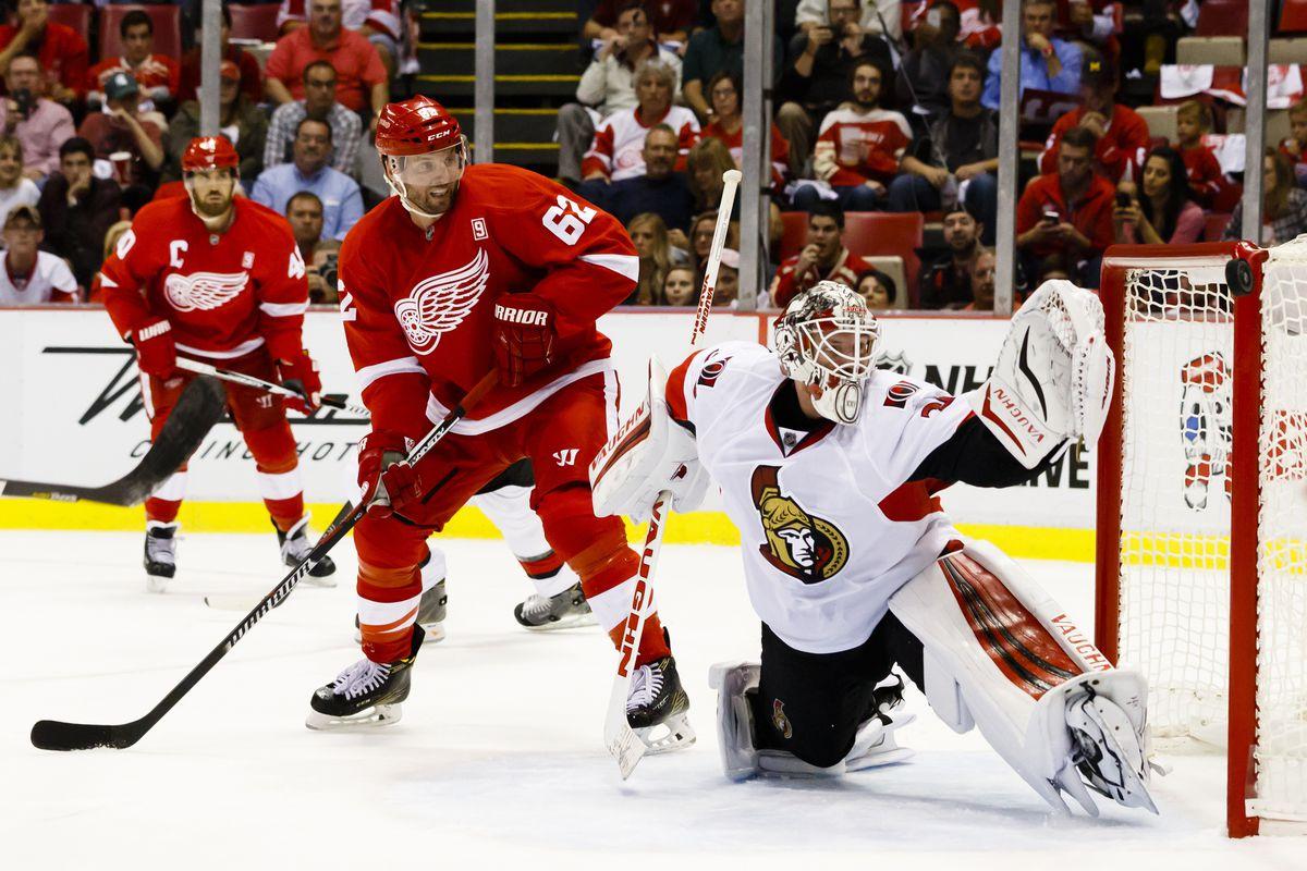 NHL: Ottawa Senators at Detroit Red Wings