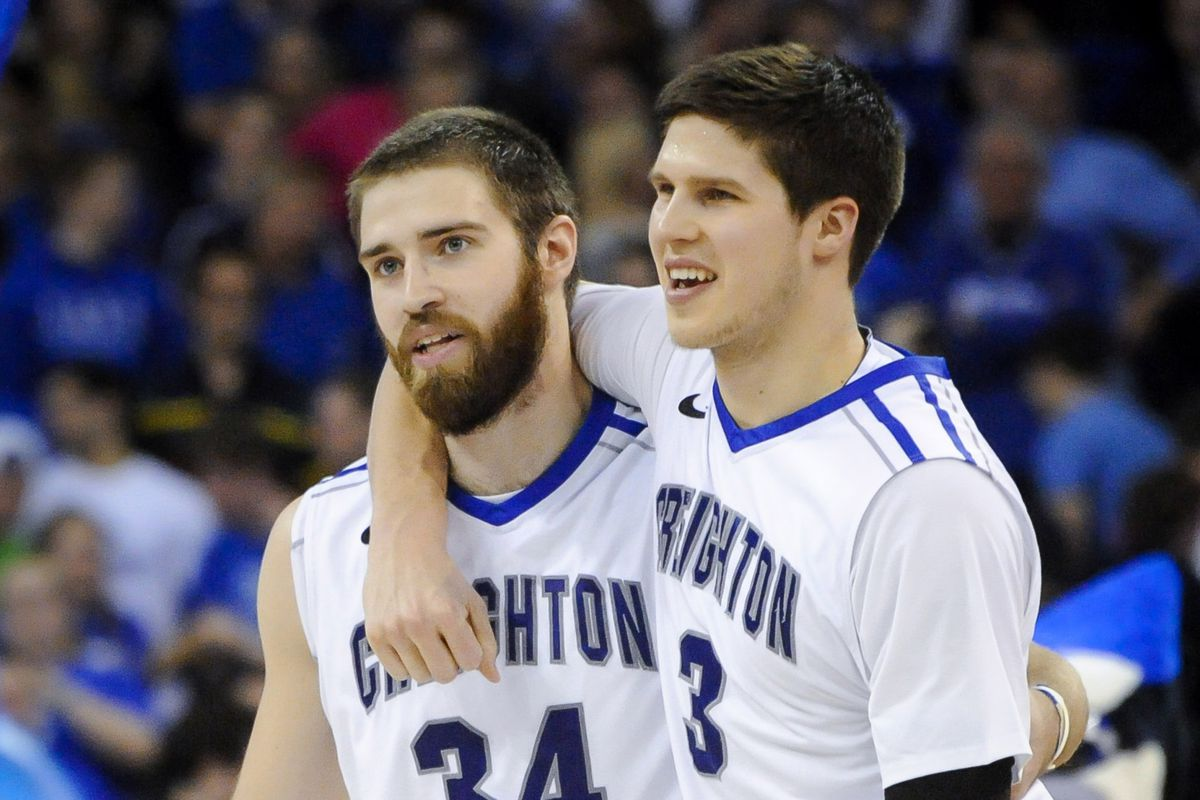 One of these guys undoubtedly just made a three pointer.