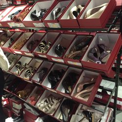 The women's shoe section