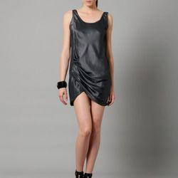 Helmut Lang wrinkled satin two-side twist tank dress, $199 (orig. $460)