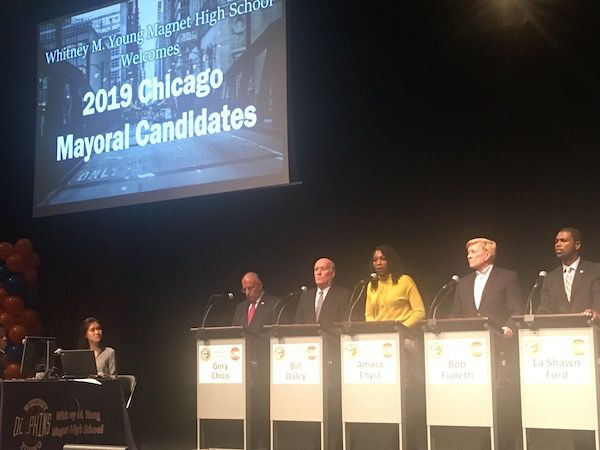 Five of the 11 candidates who attended Thursday's forum.