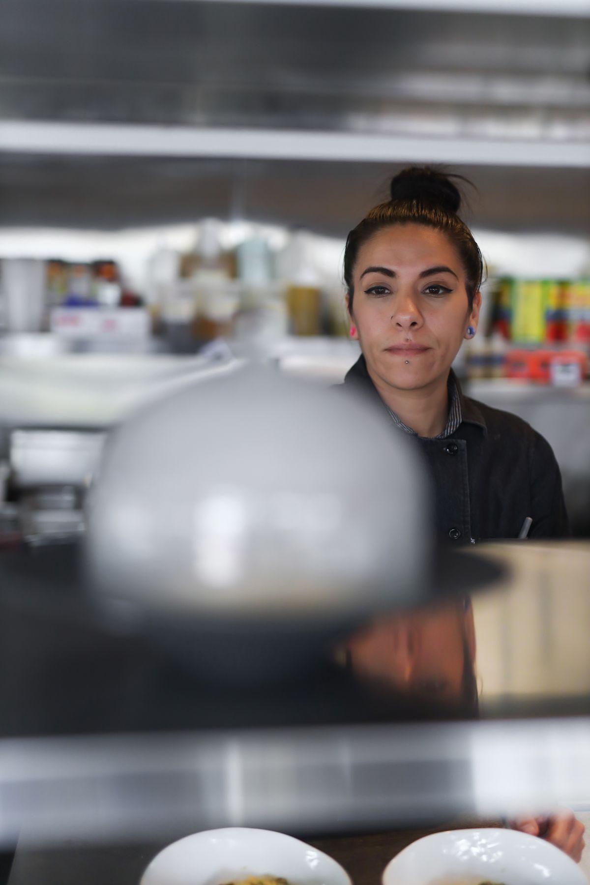 Chef Daniela Martinez stands in the kitchen at Semola in La Jolla