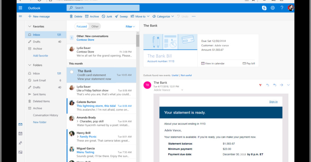 Microsoft reveals lots of new Outlook features following Gmail