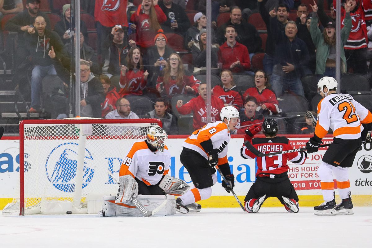 NHL: Philadelphia Flyers at New Jersey Devils