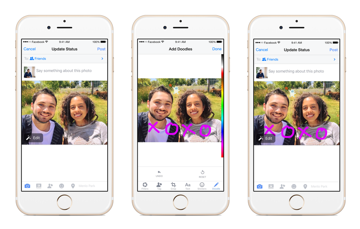 You can now draw on photos that you upload to Facebook - The Verge