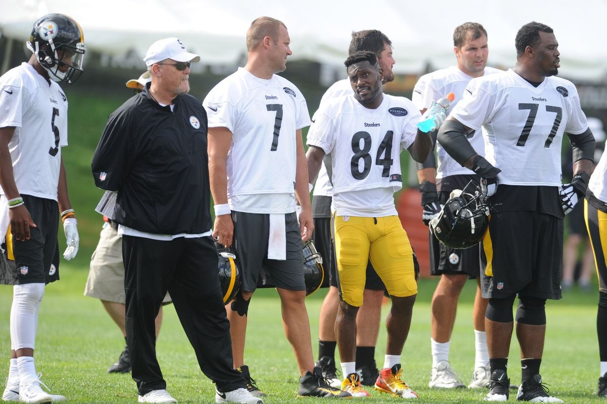 999d28b01 Steelers  Training Camp Recap  Antonio Brown fires back after reports of  injury