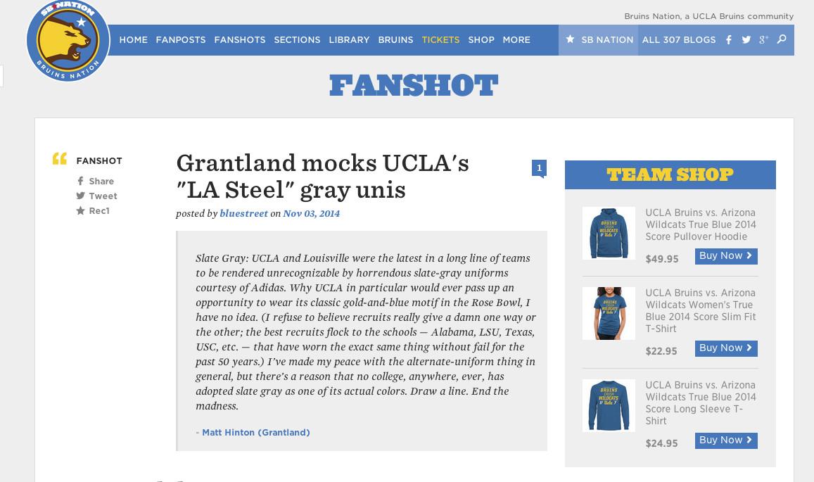 UCLA Arizona 17-7 sweatshirt