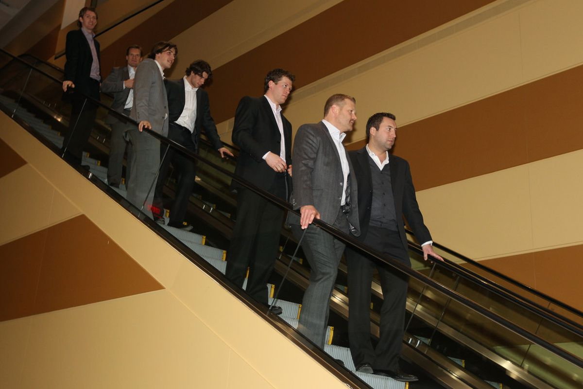 This is a picture of All-Stars on an elevator. Not relevant, but when else are we gonna use it?
