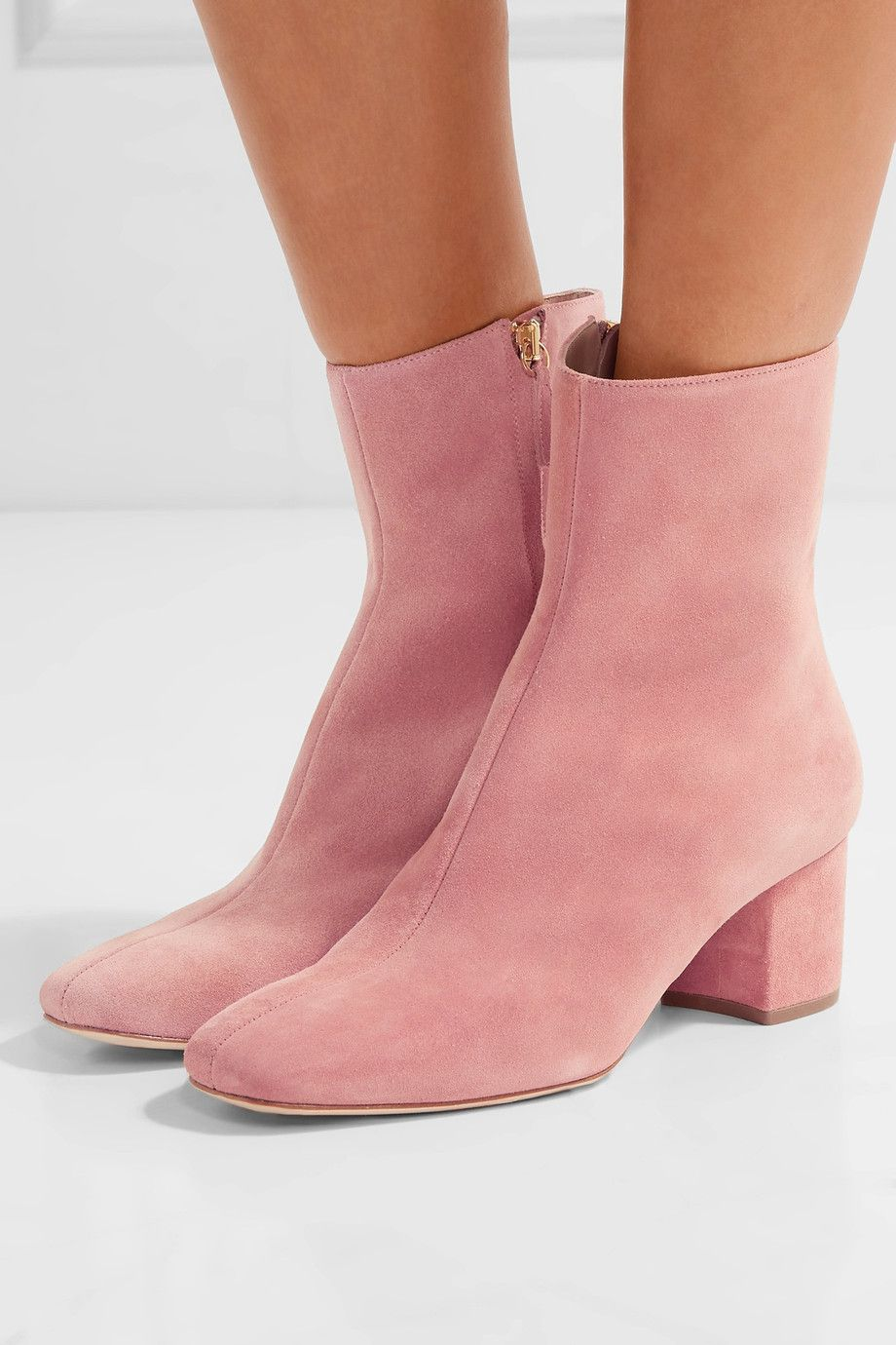 Pink ankles boots