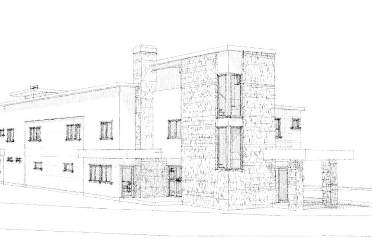 A rendering of modern townhomes bound for Atlanta's Reynoldstown.