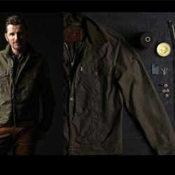 Oil Finish Shelter Cloth Trucker Hunting Jacket