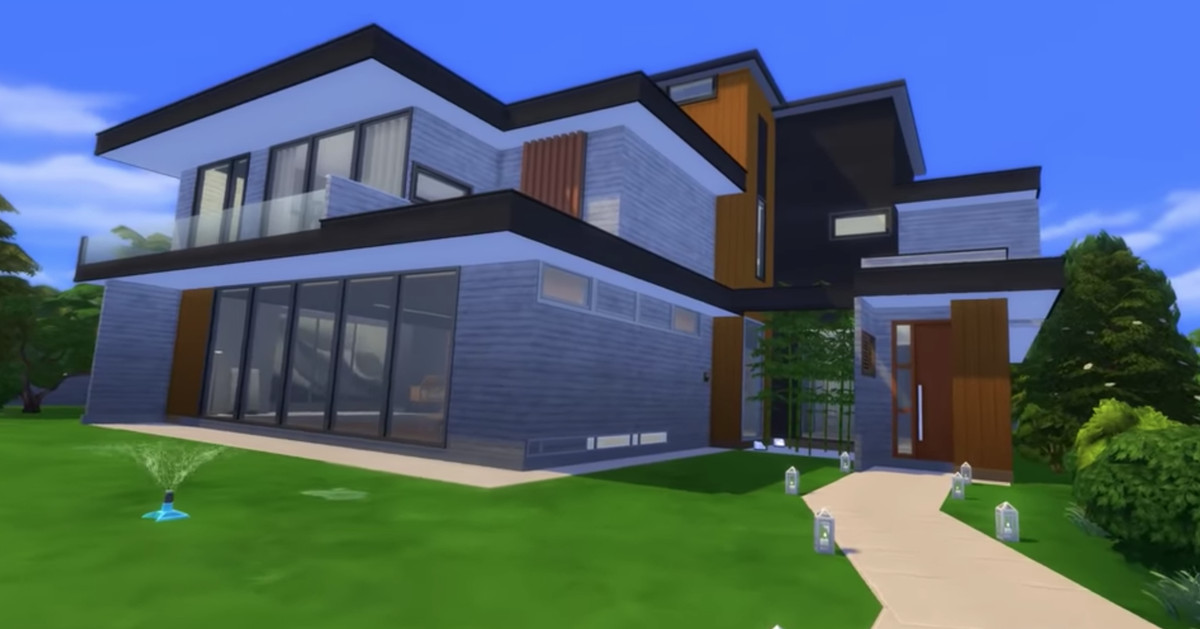 'Parasite' modern mansion recreated in the Sims
