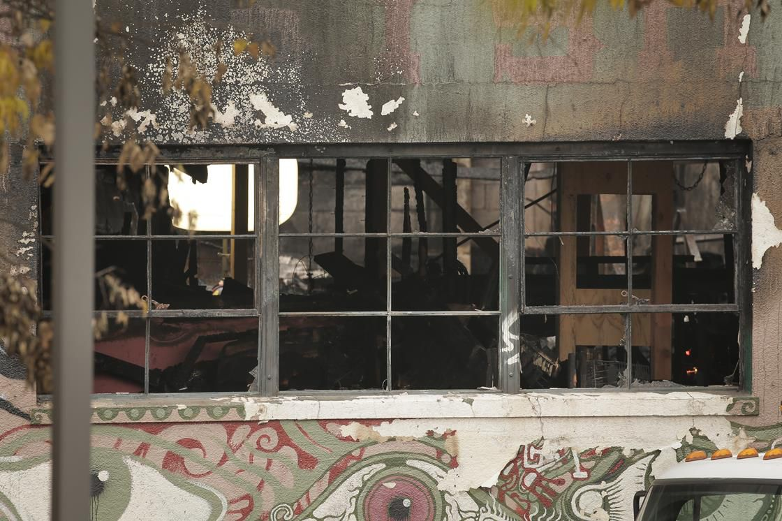 Aftermath of Oakland warehouse fire