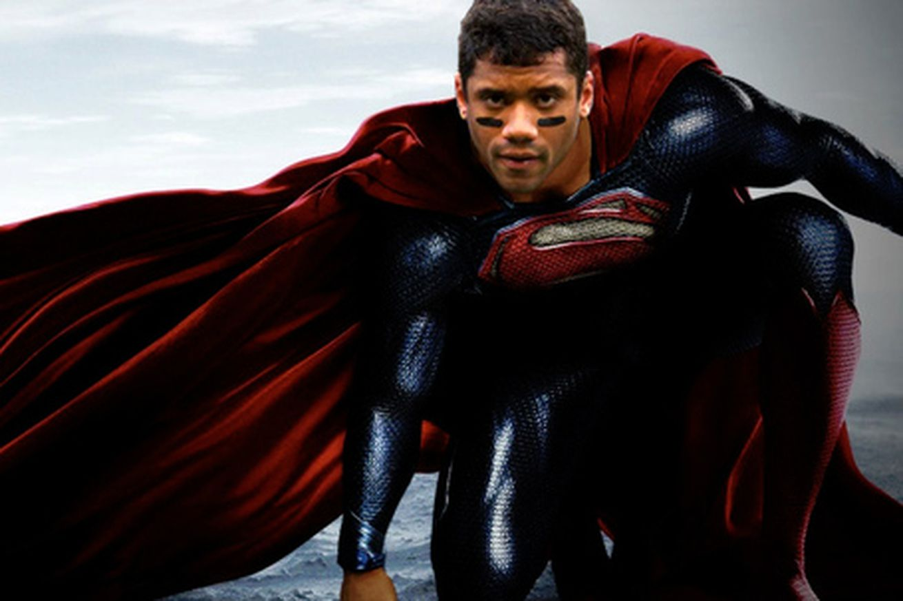 Image result for russell wilson superman