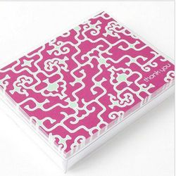 """<a href=""""http://www.papyrusonline.com/stationery/boxed-thank-you-cards/hayden-reece-thank-you-notes-by-mudlark.html""""> Mudlark Hayden Reece Thank You notes</a>, $12.95 papryus.com"""