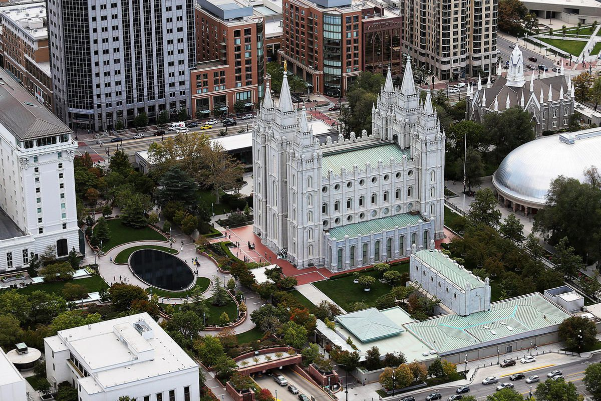 The Salt Lake Temple is seen on Friday, Sept. 30, 2016.