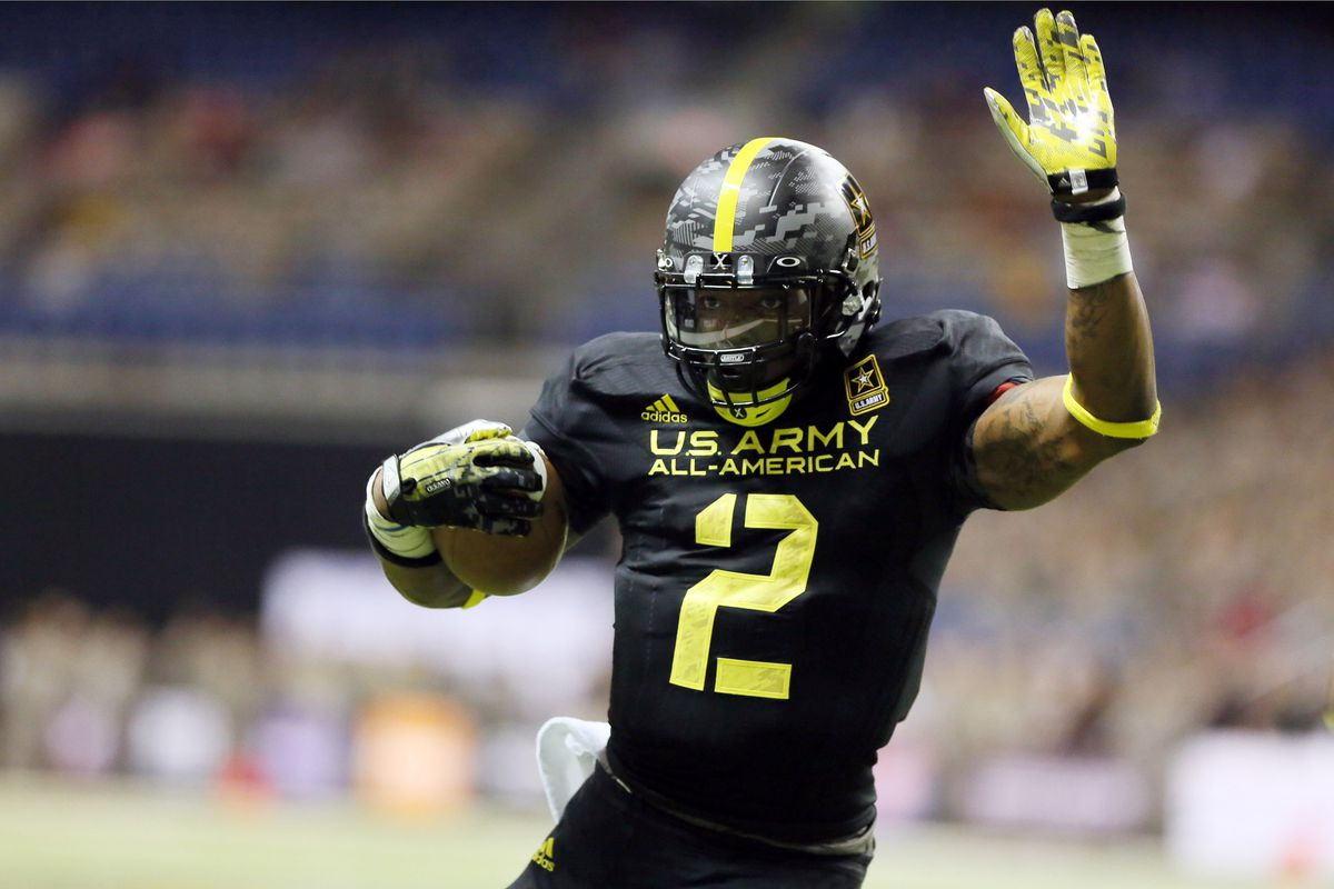 Derrick Henry led all rushers with 53 yards, a touchdown, and a 2-point conversion in the 2013 U.S. Army All-American Bowl