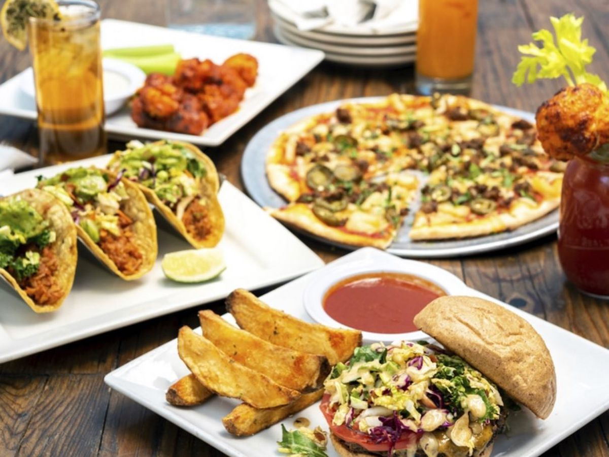An array of vegetarian and vegan dishes