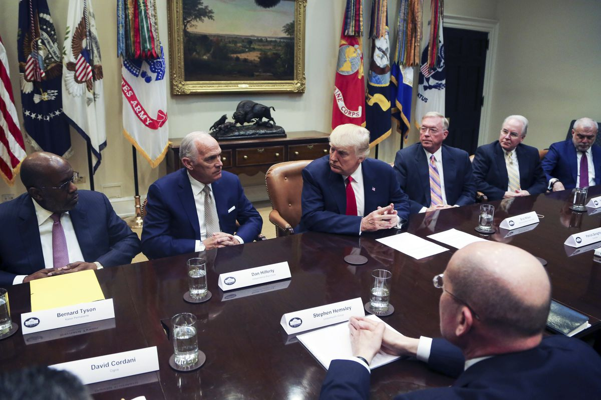 Trump Meets With Health Insurance CEO's