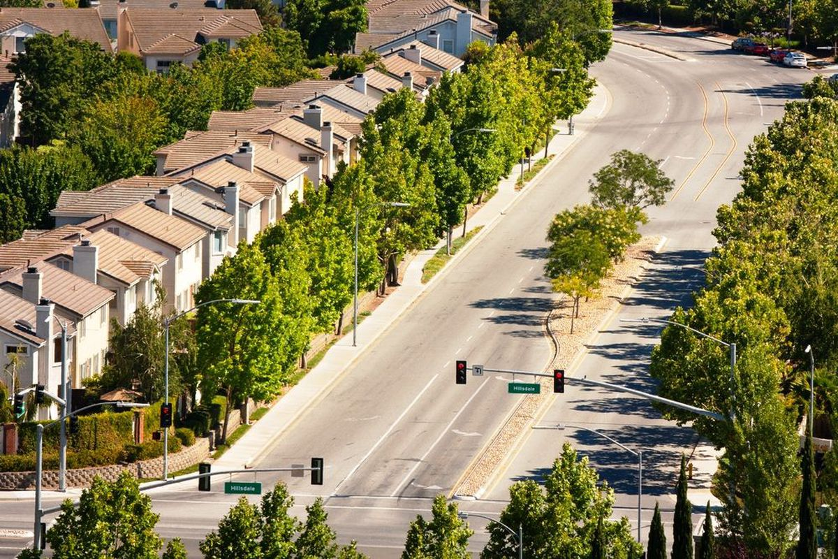 Homes on a residential street in San Jose.