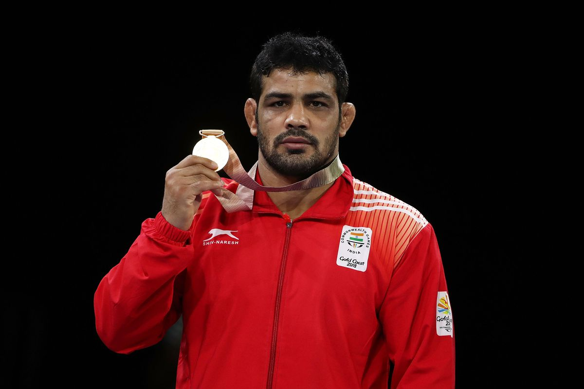 Sushil Kumar - Wrestling - Commonwealth Games Day 8