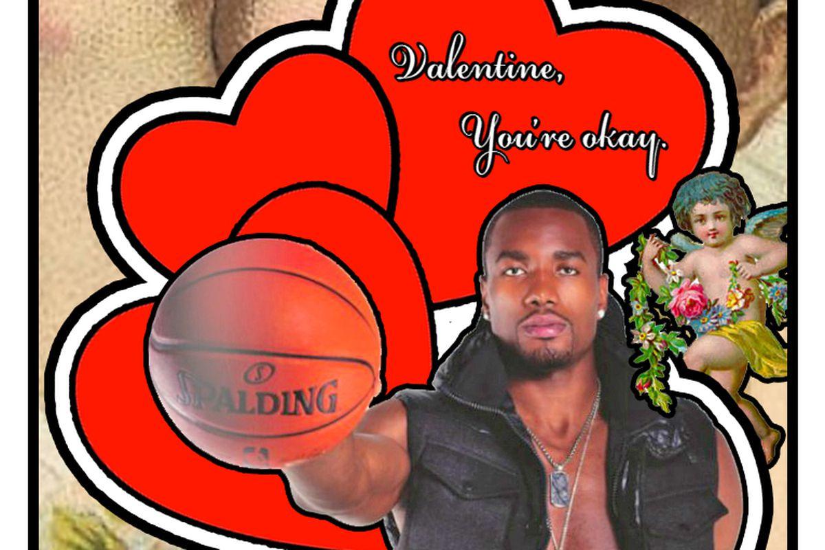 Serge Ibaka wants to wish you an okay Valentine's Day