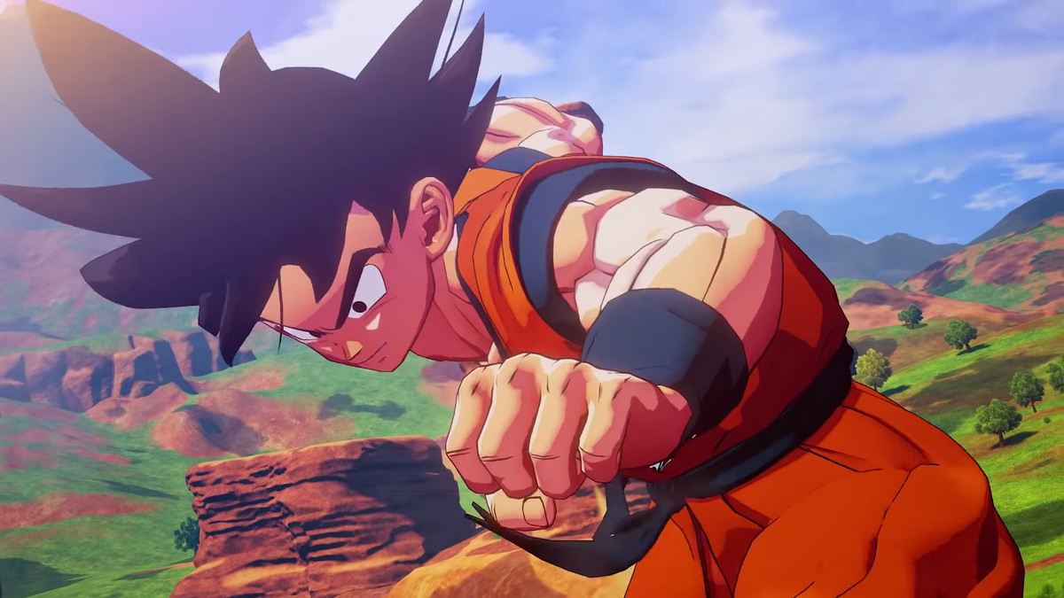 Goku prepares to fight