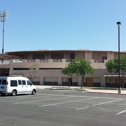 The exterior of HoHoKam, with all Cubs-related signage removed