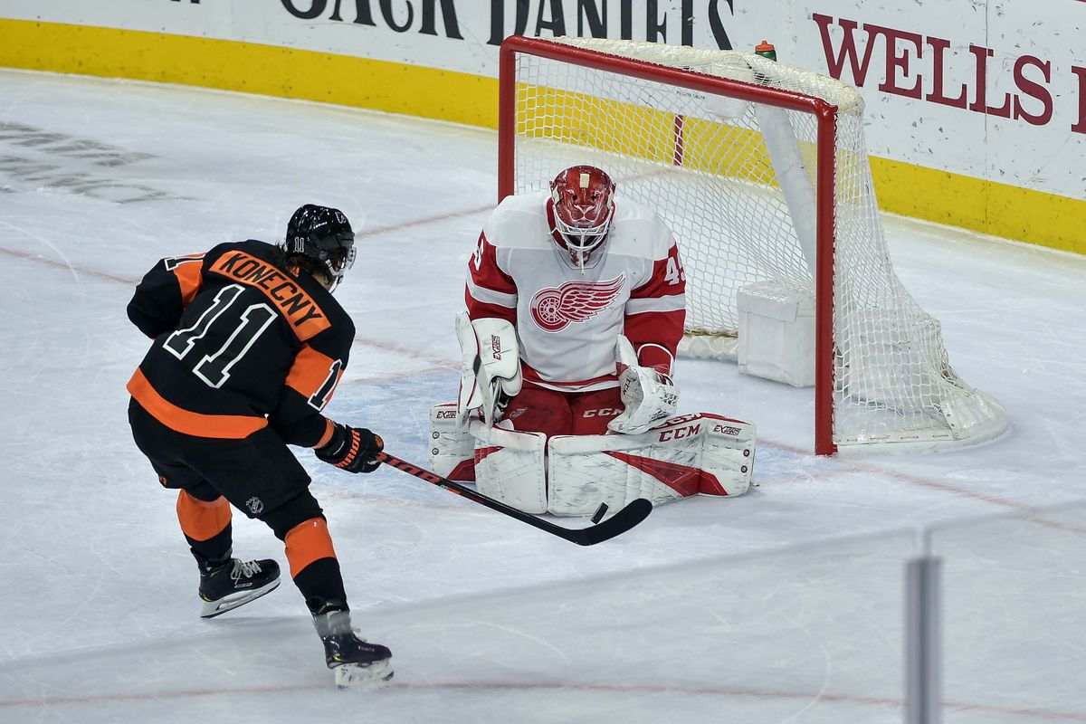 d58890e7a31 Flyers 6, Red Wings 5: Who's gonna score a hockey goal? Everyone, apparently