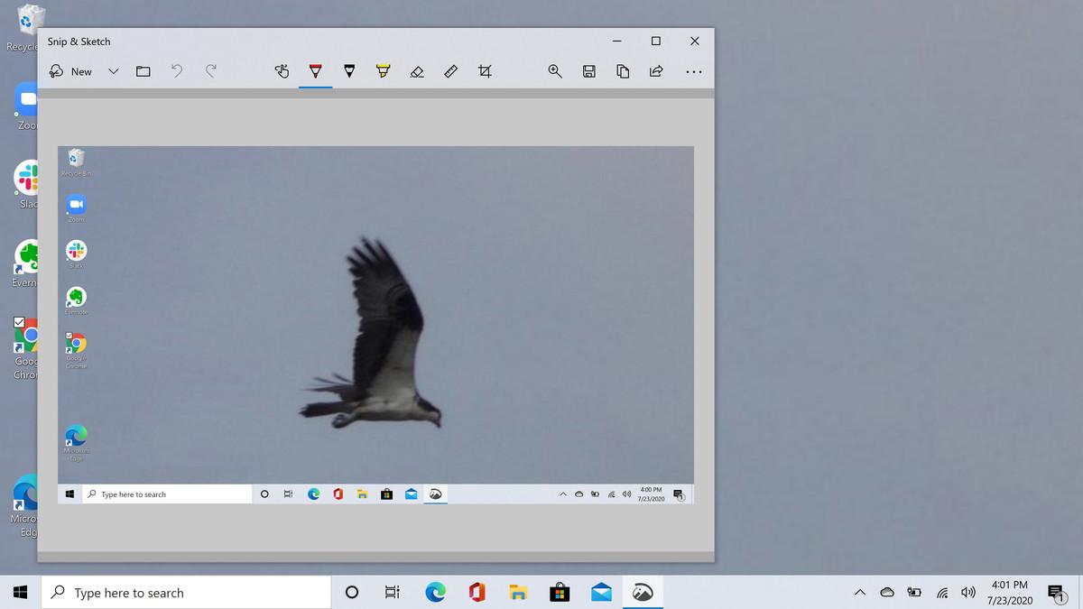 Snip & Sketch lets you edit your screenshot.