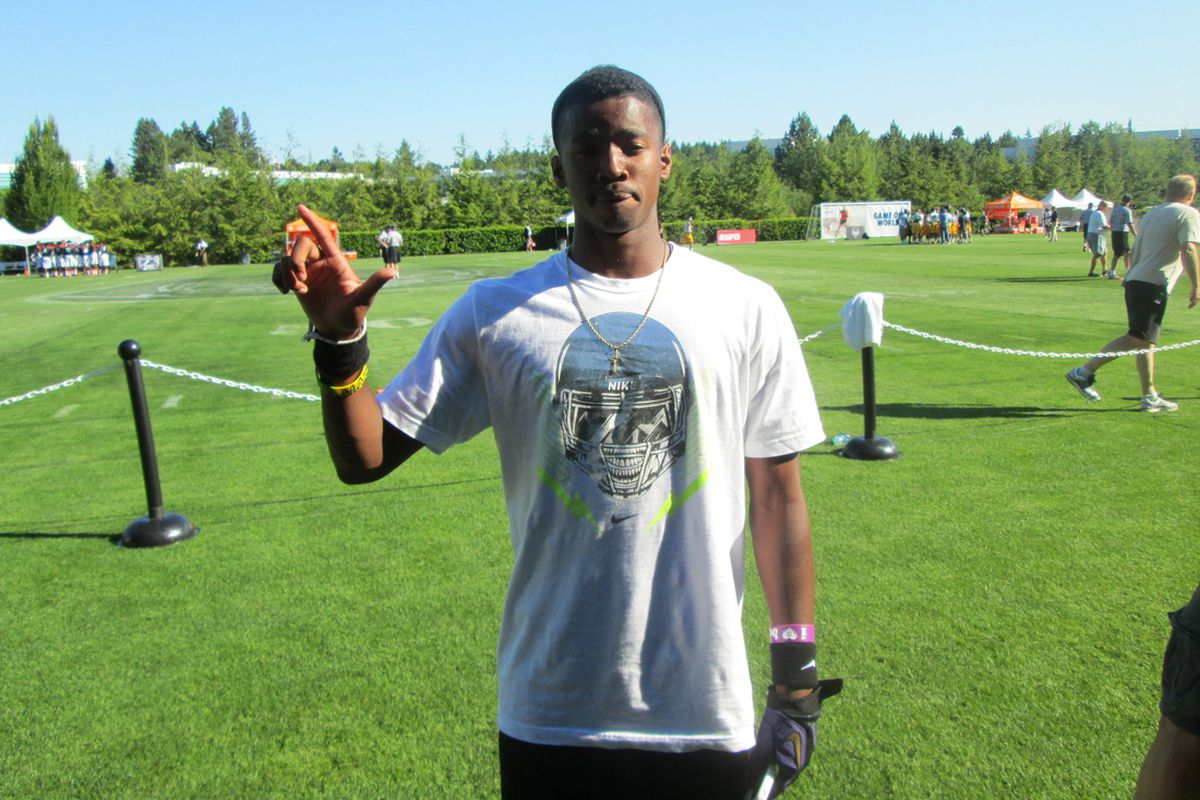 Ra'Shaad Samples after his commitment at The Opening