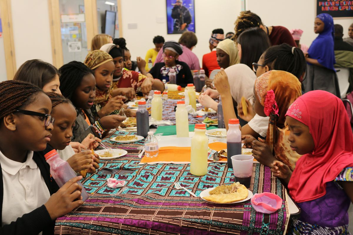 Children's Aid College Prep Charter School hosts regular events for its African families, one way the Bronx school tries to make sure immigrants are welcomed and served well.