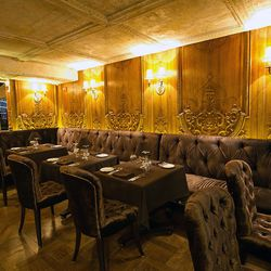 """<b>Brasserie Pushkin</b>: Like sitting on air. Too bad there's no place for your arms to rest, though. (<a href=""""http://nycfoodphotographer.com/"""">Krieger</a>)"""