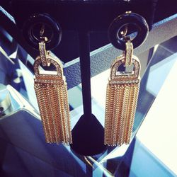 Art Deco Collection earrings, $250