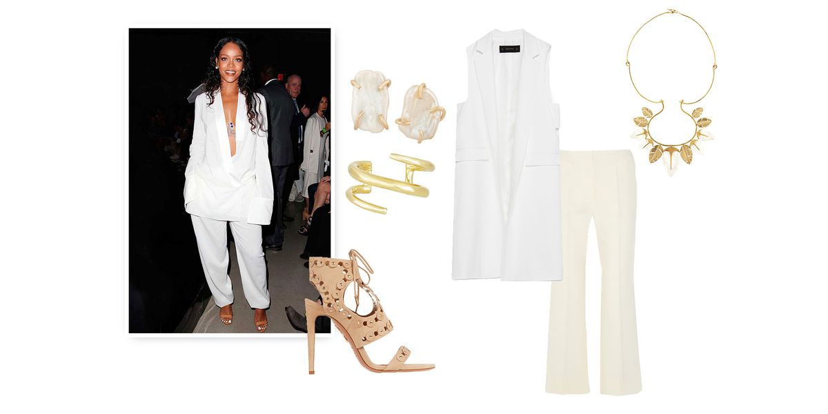 Rihanna Shopping White 3