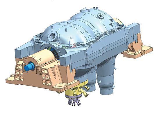 The small version of Toshiba's new CO2 turbine.