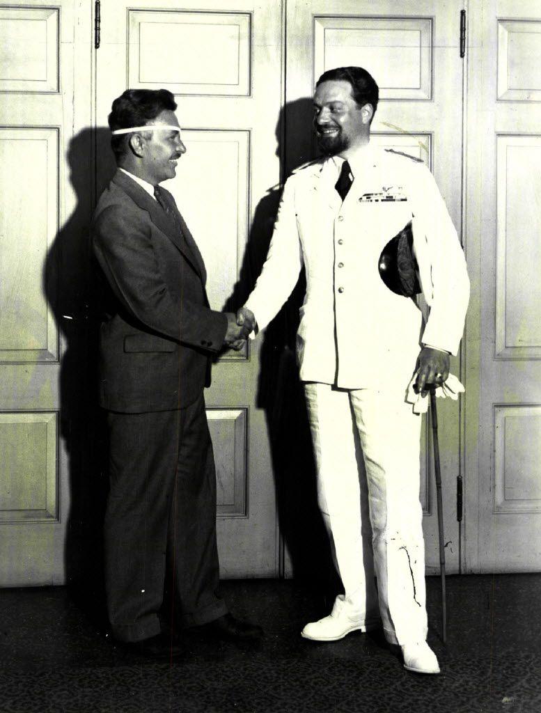 Italo Balbo (right) pictured in 1933. | Sun-Times files