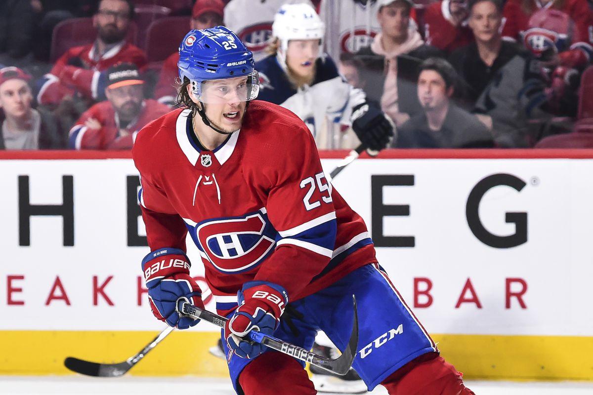 The Montreal Canadiens place Jacob de la Rose on waivers