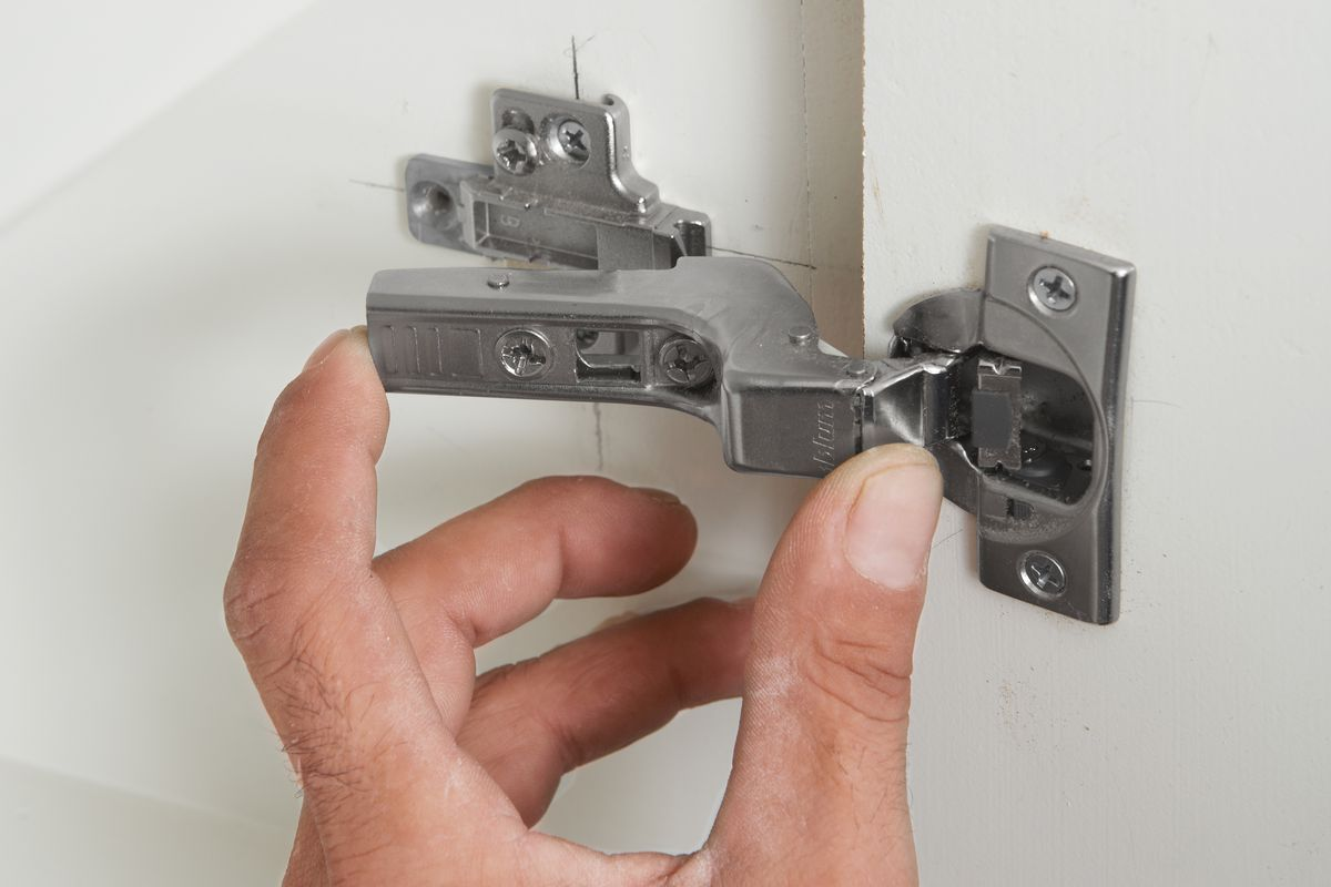 Mounting Door Of Hidden Cabinet Hinge