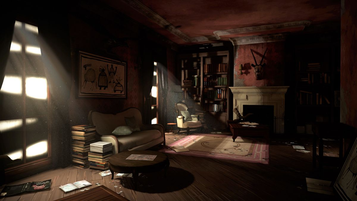 an empty room after a zombie apocalypse in The Walking Dead: Saints and Sinners