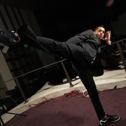 MMA fighter Austin Pettis hosted a UFC viewing party at Heraea on Saturday night. Photo: Courtesy of Heraea