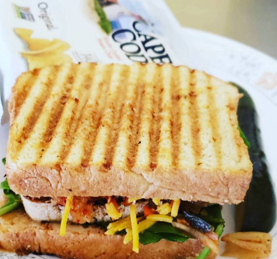 grilled sandwich with vegetables