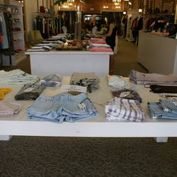 Denim from J Brand, Habitual and Mother, plus super-soft basic tees at 40% off.