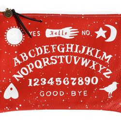 """Falconwright red witchboard clutch, <a href=""""http://americantwoshot.com/falconwright-red-witchboard-clutch"""">$80</a> at American Two Shot"""