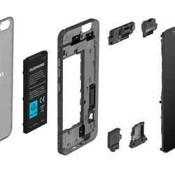 <em>The phone is made of seven modules to make it easy to repair.</em>