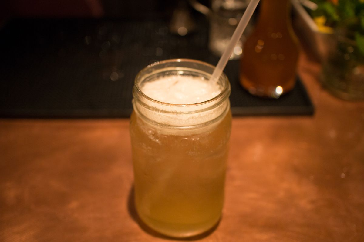 A drink at Vena's Fizz House, Portland.